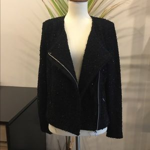 Black Sparkle Detail Jacket